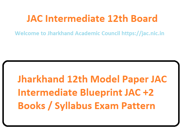 Welcome to Jharkhand Academic Council JAC 12th Model Paper 2020