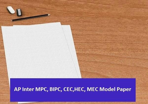 Manabadi AP Inter Model Question Paper 2020 MPC, BIPC, CEC,HEC, MEC
