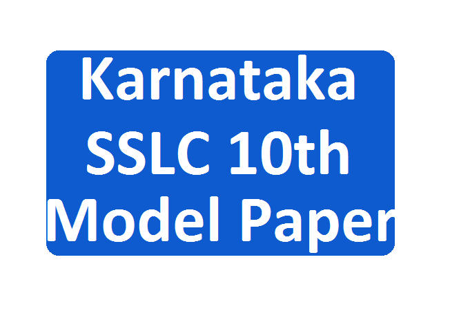 KAR SSLC Model Question Paper 2020 Math,s Sanskrit,