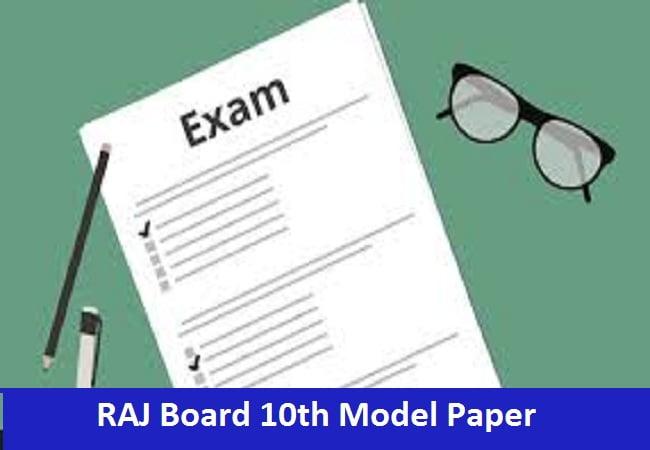 RAJ Board 10th Model Paper 2020